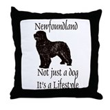 Newfoundlands It's A Lifestly Throw Pillow