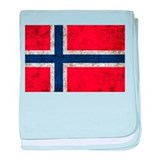 Norway Grunge baby blanket
