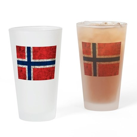Norway Grunge Drinking Glass
