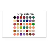 color analysis Sticker deep autumn