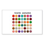 color analysis Sticker warm autumn