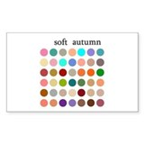 color analysis Sticker soft autumn