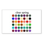color analysis Sticker clear spring