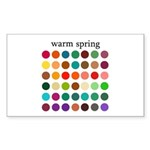 color analysis Sticker warm spring