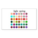 color analysis Sticker light spring