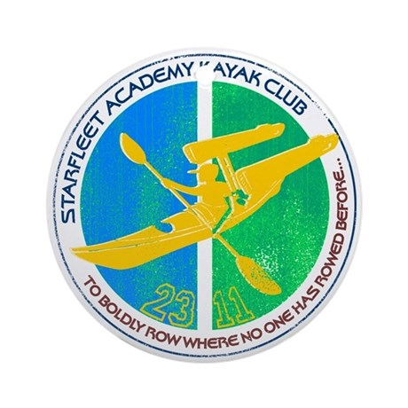 Starfleet Academy Kayak Club Ornament (Round)