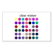 color analysis Sticker clear winter