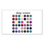color analysis Sticker deep winter