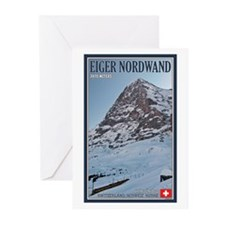 The Eiger and Train Greeting Cards (Pk of 20)