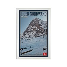 The Eiger and Train Rectangle Magnet (10 pack)