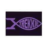 Trekkie Fish Purple Rectangle Magnet (10 pack)