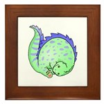 Somersault Dinosaur Framed Tile