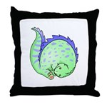 Somersault Dinosaur Throw Pillow