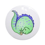 Somersault Dinosaur Ornament (Round)