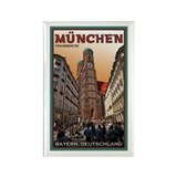 Munich Frauenkirche 2 Rectangle Magnet