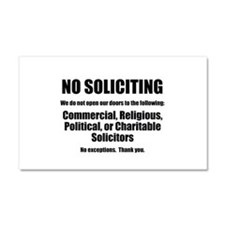 NO SOLICITING Large Size Magnet/Car Magnet 20 x 12