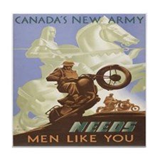 Canada's New Army Tile Coaster