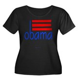 obama dk Women's Plus Size Scoop Neck Dark T-Shirt
