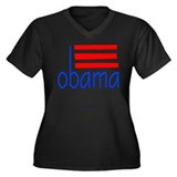 obama dk Women's Plus Size V-Neck Dark T-Shirt