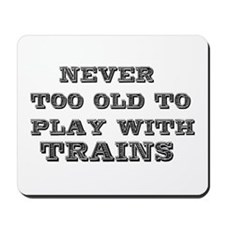 play with trains Mousepad