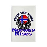 Norway Rises Rectangle Magnet