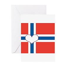 norwegian flag heart Greeting Card