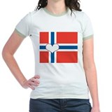 norwegian flag heart T