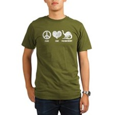 Peace Love Paleontology T-Shirt