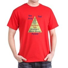 New Jersey Food Pyramid T-Shirt