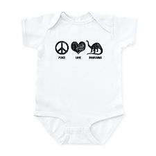 Peace Love Dinosaurs Infant Bodysuit