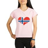 norway's heart Performance Dry T-Shirt