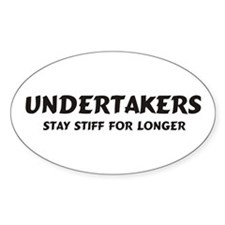 Undertakers Oval Decal