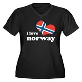 i love norway Women's Plus Size V-Neck Dark T-Shir