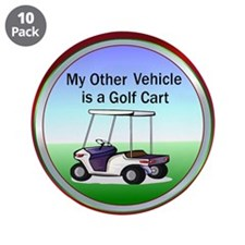 "Golf cart 3.5"" Button (10 pack)"