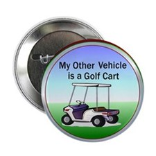 "Golf cart 2.25"" Button (10 pack)"
