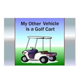Golf cart Postcards (Package of 8)