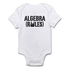 Algebra Rules Infant Bodysuit