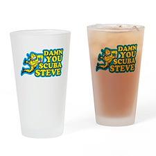 Damn You Scuba Steve Drinking Glass