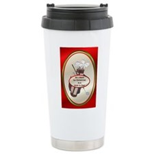 Golfer Ceramic Travel Mug