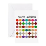 color analysis card warm autumn