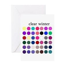 color analysis card clear winter