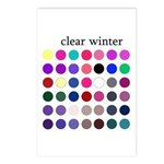 color analysis cards (Pack of 8) clear winter