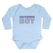 California Boy Long Sleeve Infant Bodysuit