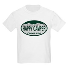 Happy Camper Colo License Plate T-Shirt