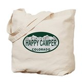 Happy Camper Colo License Plate Tote Bag