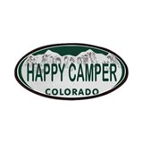 Happy Camper Colo License Plate Patches