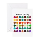 color analysis card warm spring