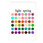 color analysis cards (Pack of 8) light spring