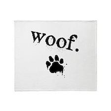 Cute Woof Throw Blanket