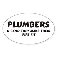 Plumbers Oval Stickers
